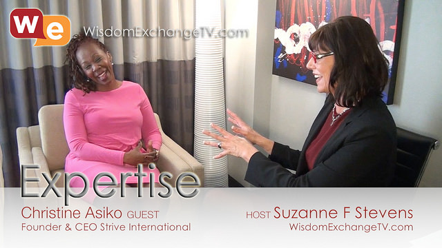 Christine Asiko, Strive International, Suzanne F. Stevens YouMeWe Group