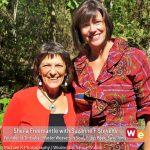 Wisdom Exchange tv guest Sheila Freemantle with host Suzanne F Stevens. Swaziland June 2012.