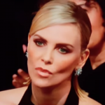 Charlize Theron moved at the Golden Globes during Glenn Close's speech