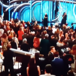 Golden Globes - Glenn Close receives a standing ovation