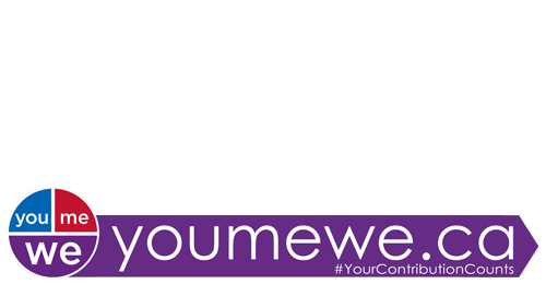 Your contribution counts campaign white