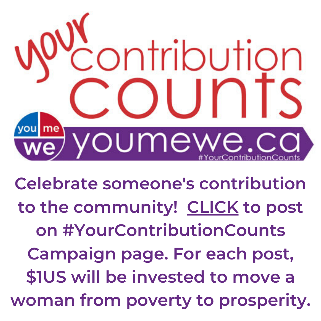 Your contribution counts campaign