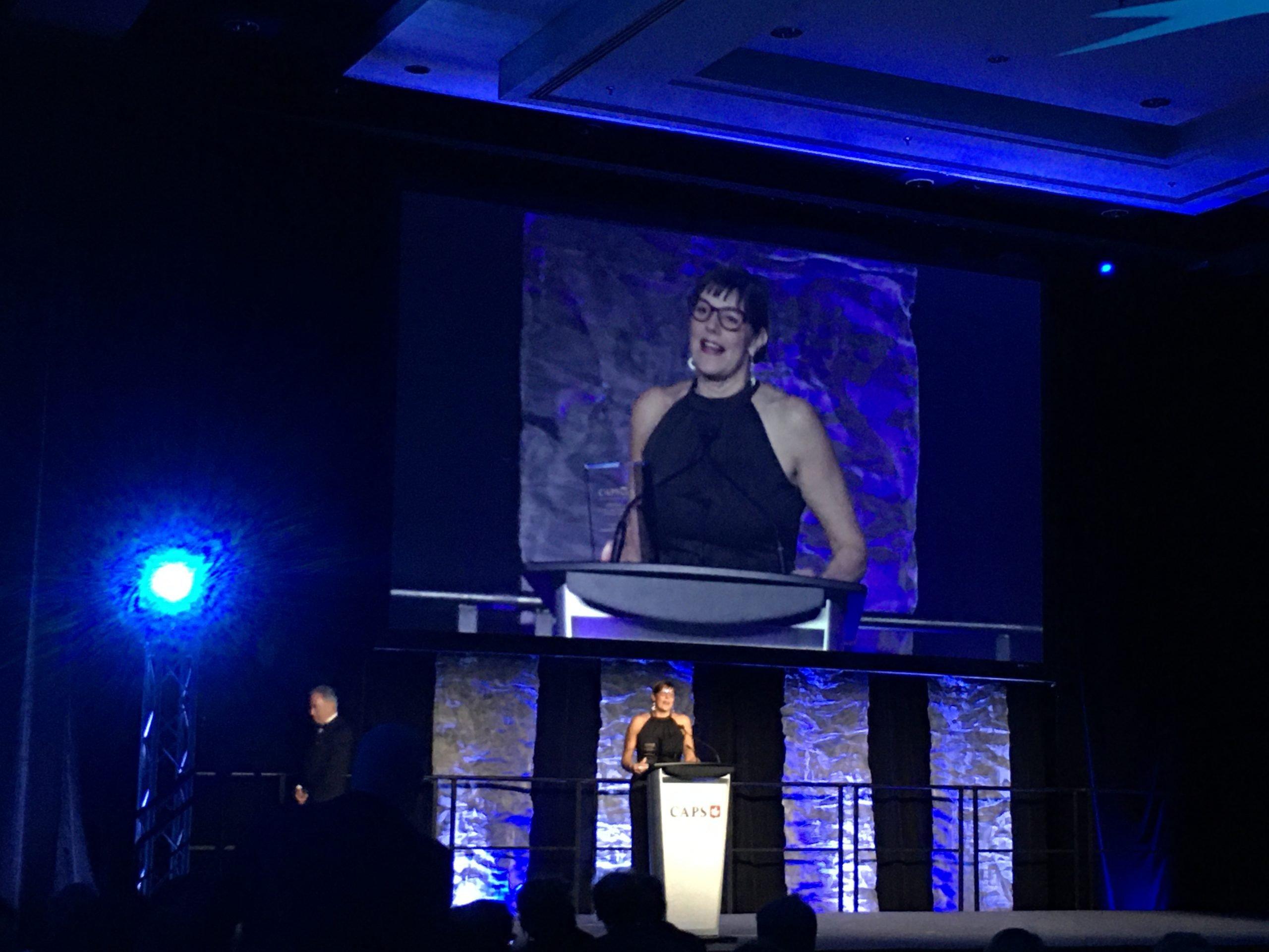 Suzanne F. Stevens receives the Peter Legge Philanthropy Award