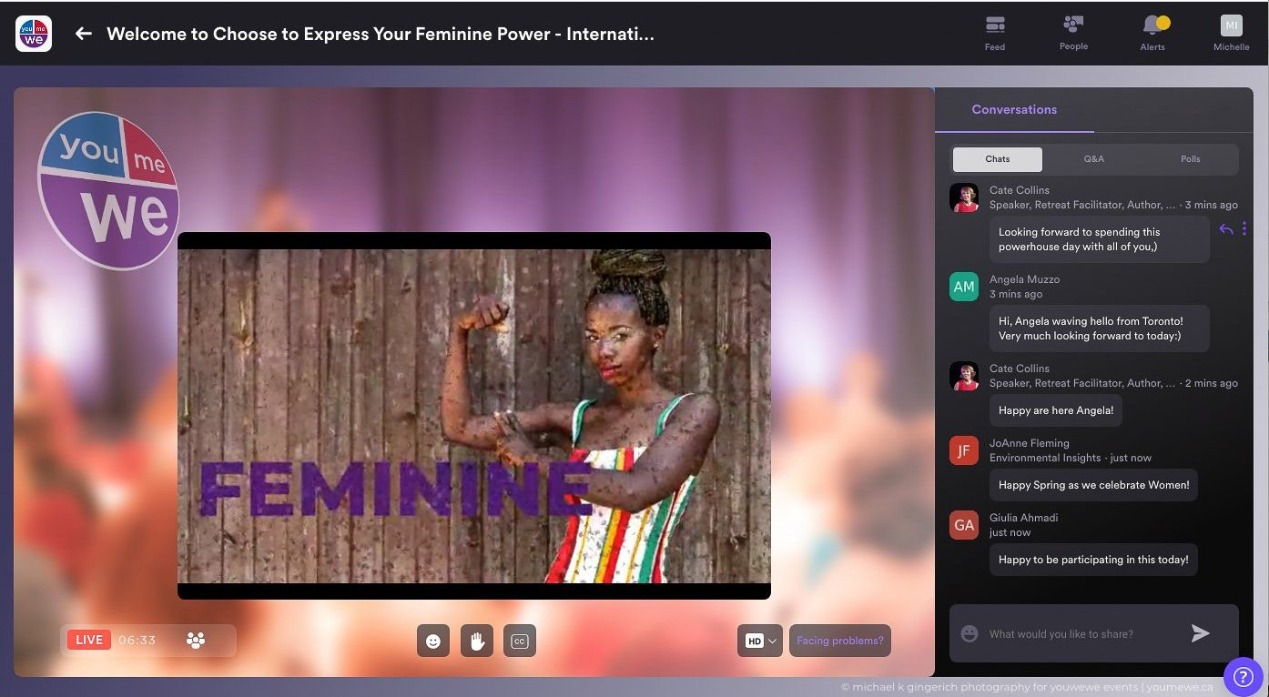 youmewe community: women leading social impact event